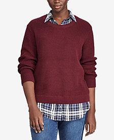 Lauren Ralph Lauren Plus Size Layered-Look Plaid Contrast Sweater