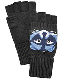 kate spade new york Raccoon Pop-Top Convertible Wool Mittens