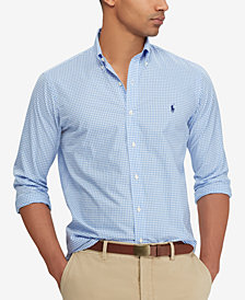 Polo Ralph Lauren Men's Big & Tall Slim-Fit Plaid Oxford Shirt