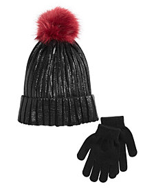 Berkshire Little & Big Girls 2-Pc. Hat & Gloves Set