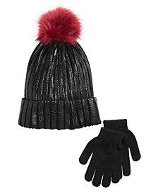 Berkshire Little & Big Girls 2-Pc. Hat & Gloves Set