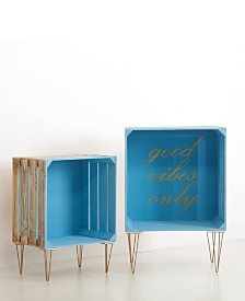 Urban Living Inspirational Nested Wooden Crates, Set of 2