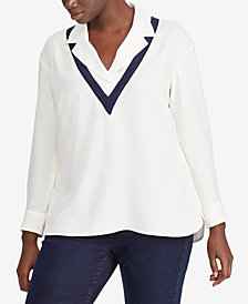Lauren Ralph Lauren Plus Size Layered-Look Top