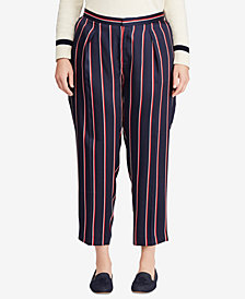 Lauren Ralph Lauren Plus Size Striped Twill Pants
