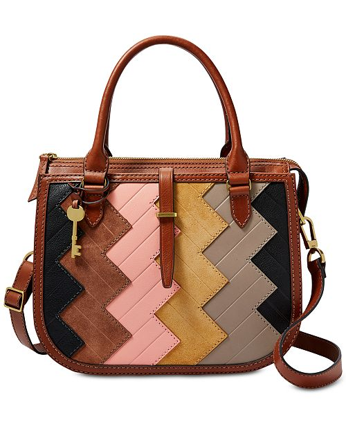 Fossil Ryder Patchwork Medium Leather Satchel   Reviews ... 98455813e28df