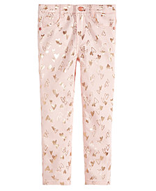 Epic Threads Little Girls Foil Heart Jeans, Created for Macy's