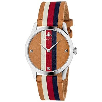 Gucci G-Timeless Men's Leather Watch