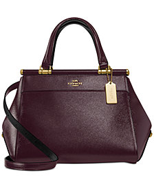 COACH Crossgrain Patent Leather Grace Bag