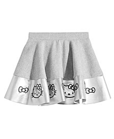 Hello Kitty Little Girls Embroidered Faux-Leather Skirt