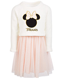 Disney Little Girls Embroidered Minnie Dress