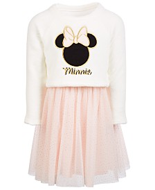 Disney Toddler Girls Embroidered Minnie Dress