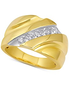Men's Diamond Channel Ring (1 ct. t.w.) in 10k Gold
