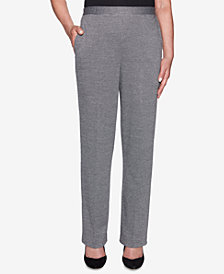 Alfred Dunner Petite Sutton Place Pull-On Straight-Leg Pants