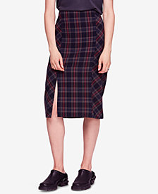 Free People See You Glow Plaid Skirt