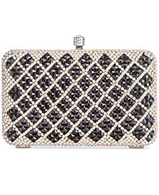 I.N.C. Juhliet X Crystal Clutch, Created for Macy's