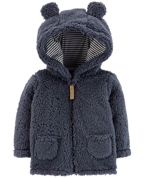 b2e8aeaff Carter s Baby Boys Hooded Sherpa Jacket   Reviews - Coats   Jackets ...