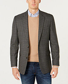Tommy Hilfiger Men's Modern-Fit TH Flex Stretch Black/White Plaid Sport Coat