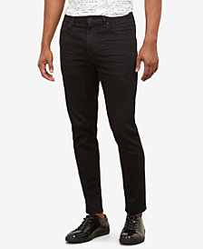 Kenneth Cole Men's Black Denim Skinny Jeans