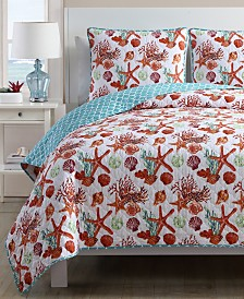 VCNY Home Sea Life Reversible 3-Pc. Quilt Set Collection
