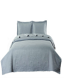 Pinsonic Coverlet Chinese Coin Design Twin