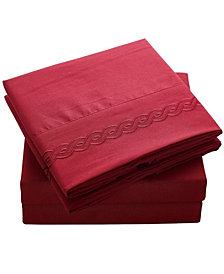 Double Brushed Microfiber Bed Sheet Set Full