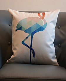 Outdoor Pillow Shell - Animal Print - Flamingo - 18 x 18