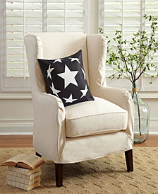 Outdoor Pillow Shell - Black and White - Eight Stars