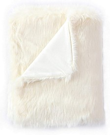 Faux Fur Throw Blanket, Super Soft Fuzzy Light Weight Luxurious - 50 x 60