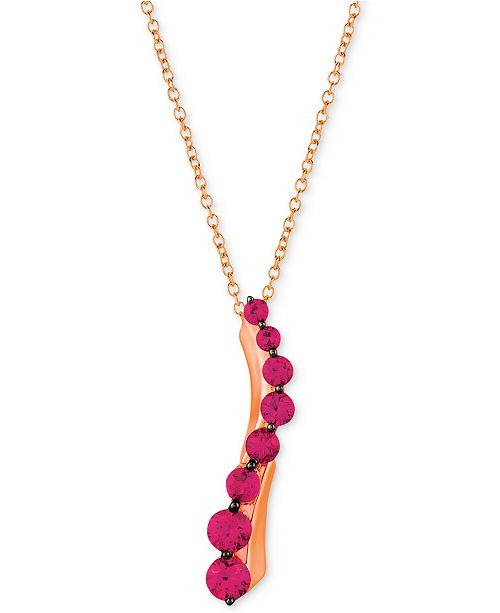 """Le Vian Ruby (3/4 ct. t.w.) 18"""" Pendant Necklace in 14k Rose Gold"""