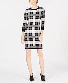 Calvin Klein Plaid Sweater Dress