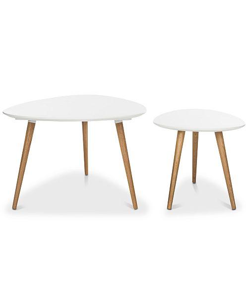 Furniture Saffron Spilt 2-Pc. Coffee Table Set, Quick Ship