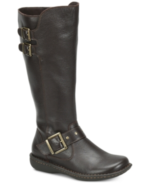 b.o.c. Oliver Wide Calf Riding Leather Boots Women's Shoes