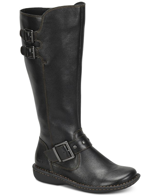 b.o.c. Oliver Wide Calf Riding Leather Boots