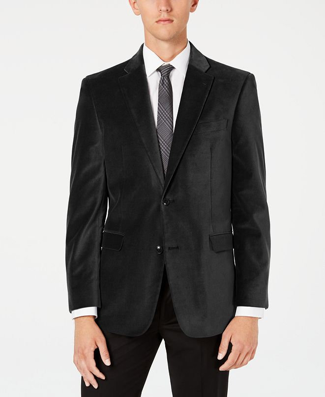 Tommy Hilfiger Men's Modern-Fit TH Flex Stretch Solid Velvet Sport Coat