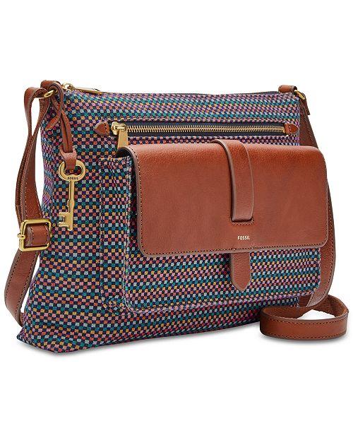 933eac30de98 Fossil Kinley Medium Printed Crossbody   Reviews - Handbags ...