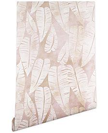 Deny Designs Schatzi Brown Island Goddess Leaf Creme Wallpaper