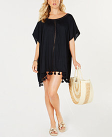 Roxy Juniors' Pom Pom-Trim Cover-Up