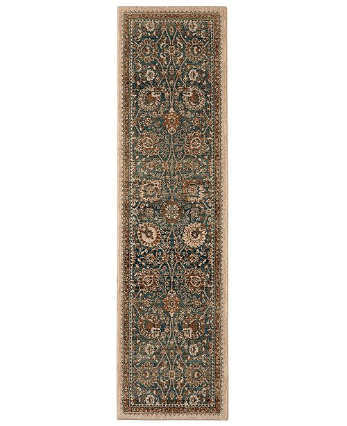 "Karastan Spice Market Toprobana Sapphire 2'4"" x 7'10"" Runner Rug"