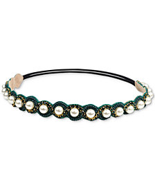 Deepa Gold-Tone Bead & Imitation Pearl Headband