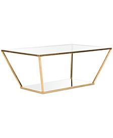 Allene Gold Leaf Retro Coffee Table