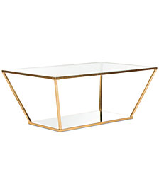 Allene Gold Leaf Retro Coffee Table, Quick Ship