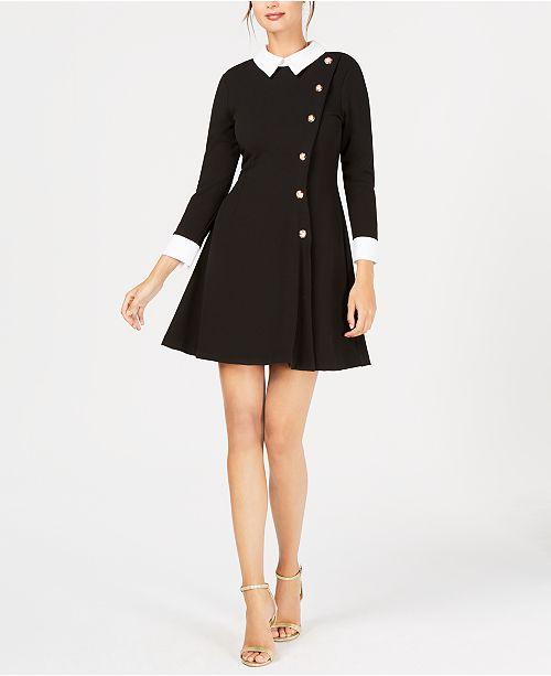 d64ae39d18 Ivanka Trump Collared A-Line Dress   Reviews - Dresses - Women ...