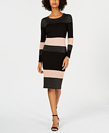 Taylor Multi-Striped Ribbed Sweater Dress