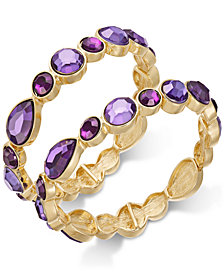 I.N.C. Gold-Tone 2-Pc. Set Stone Stretch Bracelet, Created for Macy's