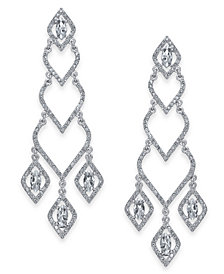 I.N.C. Silver-Tone Stone & Pavé Chandelier Earrings, Created for Macy's