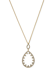 "I.N.C. Gold-Tone Pavé Open Pendant Necklace, 32"" + 3"" extender, Created for Macy's"