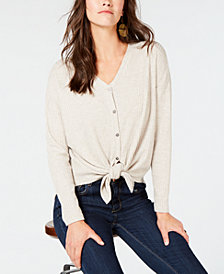 Style & Co Thermal-Knit Button-Front Shirt, Created for Macy's
