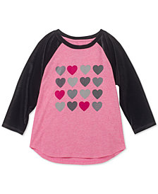 Calvin Klein Big Girls Velour Raglan Cotton T-Shirt