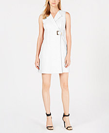 Calvin Klein Petite Faux-Wrap Dress