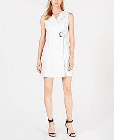 Calvin Klein Petite Faux-Wrap Dress